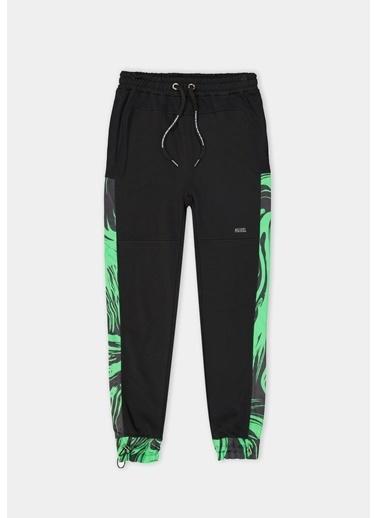 Huxel MUJ006212 Glam Street Yeşil Parça Siyah